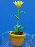 Click here to enlarge image and see more about item n02130: Dollhouse Miniature Flower in Clay Pot
