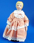 Click here to enlarge image and see more about item n02172: Miniature Bisque Dollhouse - Girl