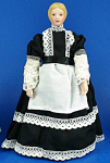Click here to enlarge image and see more about item n02177: Miniature Bisque Dollhouse - Maid