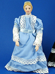 Click here to enlarge image and see more about item n02178: Miniature Bisque Dollhouse - Lady
