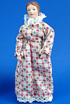 Click here to enlarge image and see more about item n02180: Miniature Bisque Dollhouse - Lady
