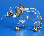 Click here to enlarge image and see more about item n02196: Blown Glass Gold Trim Elephant