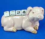 Click here to enlarge image and see more about item n02257: K258 Pig Calendar