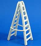 Click here to enlarge image and see more about item n02262: Klima K351 Miniature White Porcelain Ladder