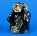 Click here to enlarge image and see more about item n02331: K999 Hear no Evil Chimp Figural Thimble