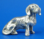T112 Miniature Metal Sitting Dachshund