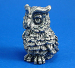 Click here to enlarge image and see more about item n02415: Klima T112 Miniature Metal Owl