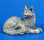 T112 Miniature Metal Lying Persian Cat
