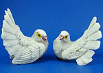 Click here to enlarge image and see more about item n02420: Resin Dove Figurine Pair