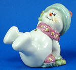 Click here to enlarge image and see more about item n02432: Playful Snowman Figurine