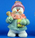 Click here to enlarge image and see more about item n02442: Resin Snowman Ornament