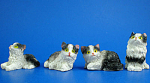 Click here to enlarge image and see more about item n02445: Miniature Cat Set of Four