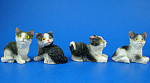 Click here to enlarge image and see more about item n02446: Miniature Cat Set of Four