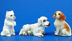 Click here to enlarge image and see more about item n02494: Miniature Dog Set of Three