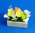 Click here to enlarge image and see more about item n02523: Dollhouse Miniature Flower Arrangement