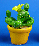 Dollhouse Miniature Cactus in Clay Pot