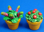 Dollhouse Miniature Flowers in Clay Pot