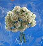 Click here to enlarge image and see more about item n02620: Miniature Paper White Roses