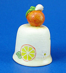Click here to enlarge image and see more about item n02633: Handpainted Ceramic Thimble - Orange