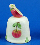 Handpainted Ceramic Thimble - Apple
