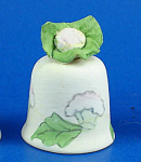 Handpainted Ceramic Thimble - Califlower