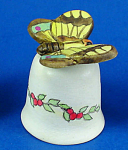 Handpainted Ceramic Thimble - Butterfly