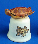 Handpainted Ceramic Thimble - Seaturtle