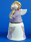 Click here to enlarge image and see more about item n02667: Hand Painted Ceramic Thimble - Fairy Godmother
