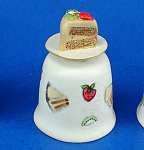 Click here to enlarge image and see more about item n02681: Hand Painted Ceramic Thimble - Cake