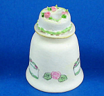 Click here to enlarge image and see more about item n02683: Hand Painted Ceramic Thimble - Cake