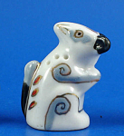 Hand Painted Porcelain Thimble - Squirrel