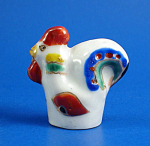 Hand Painted Porcelain Thimble - Rooster