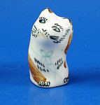 Hand Painted Porcelain Thimble - Cat