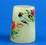 Klima Hand Painted Carved Stone Thimble - Bird