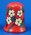 Hand Painted Ceramic Thimble - Floral