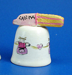 Hand Painted Ceramic Thimble - Candy Bar