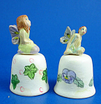 Hand Painted Ceramic Thimble - Fairy Pair