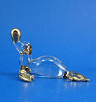 Blown Glass with Gold Trim Miniature Sea Lion with Ball