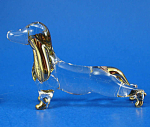 Click here to enlarge image and see more about item n02885: Blown Glass with Gold Trim Miniature Dachshund