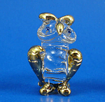 Blown Glass with Gold Trim Miniature Owl