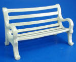 Click here to enlarge image and see more about item n02999: Porcelain Miniature Park Bench
