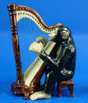 Click here to enlarge image and see more about item n03047: K6722 Chimp with Harp