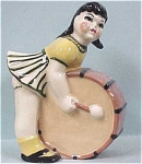 Click here to enlarge image and see more about item p00130: CAS Girl With Drum