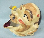 Click here to enlarge image and see more about item p00215: Ceramic Old Man's Head Ashtray