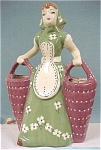 Large 1950s California Pottery Lady
