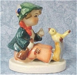 Click to view larger image of Cute Little Japan Ceramic Boy With Bird (Image1)