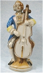 Click to view larger image of 1940s/1950s Japan Ceramic Man With Bass Violin (Image1)