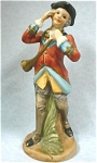 Click here to enlarge image and see more about item p00260: 1950s/1960s Colonial Man with Bugle