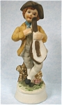 Click here to enlarge image and see more about item p00264: 1940s/1950s Japan Ceramic Colonial Boy with Lute
