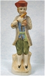 Click here to enlarge image and see more about item p00265: 1940s/1950s Japan Ceramic Man with Fife
